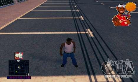 C-HUD Basketball para GTA San Andreas segunda tela