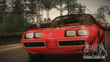 Pontiac Turbo Trans Am 1980 Bandit Edition para GTA San Andreas