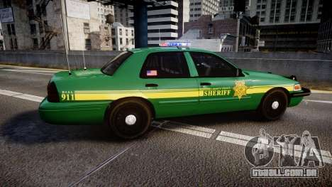 Ford Crown Victoria Sheriff [ELS] green para GTA 4 esquerda vista