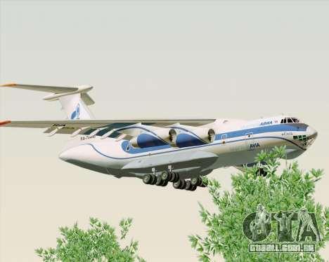 IL-76TD Gazprom Avia para GTA San Andreas traseira esquerda vista