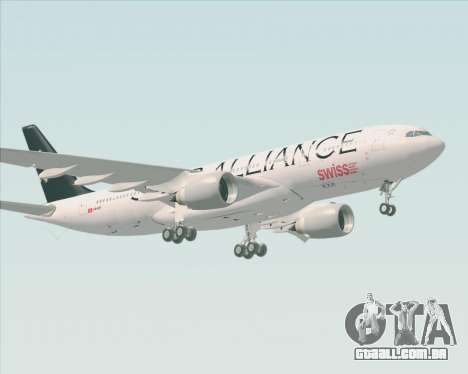 Airbus A330-200 SWISS (Star Alliance Livery) para GTA San Andreas esquerda vista