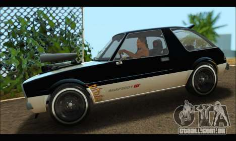 Declasse Rhapsody (GTA V) (SA Mobile) para GTA San Andreas esquerda vista