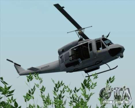 Bell UH-1N Huey USMC para GTA San Andreas vista traseira