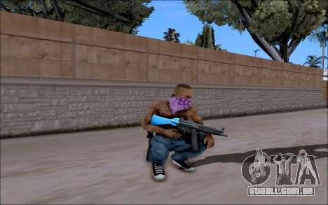 Blueline Gun Pack para GTA San Andreas terceira tela