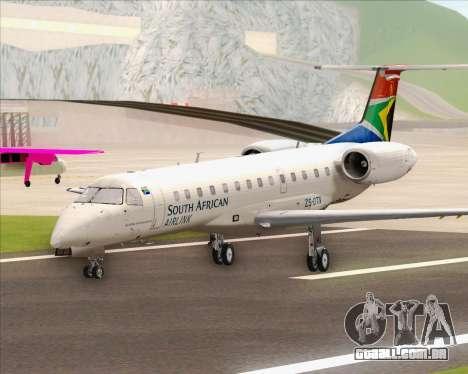 Embraer ERJ-135 South African Airlink para GTA San Andreas traseira esquerda vista