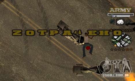 C-HUD Army para GTA San Andreas sétima tela