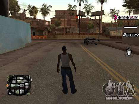 C-HUD WanTed para GTA San Andreas segunda tela