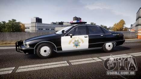 Chevrolet Caprice Highway Patrol [ELS] para GTA 4 esquerda vista