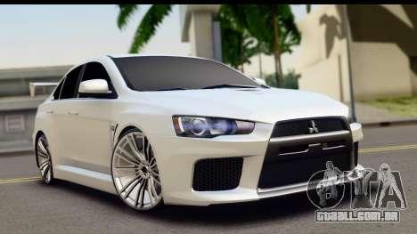 Mitsubishi Lancer X RE-Racing Edition para GTA San Andreas