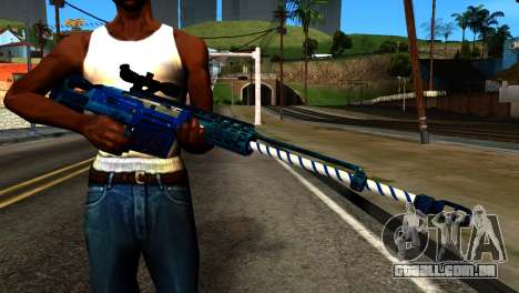 New Year Sniper Rifle para GTA San Andreas terceira tela