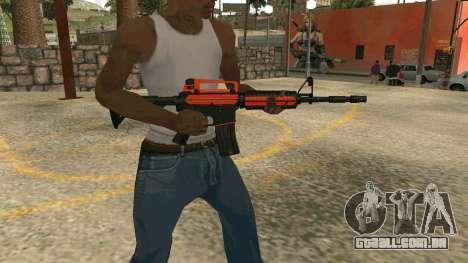 Orange M4A1 para GTA San Andreas por diante tela