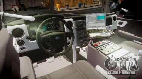 Ford Explorer 2008 Police [ELS] para GTA 4 vista de volta