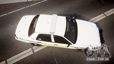 Ford Crown Victoria Police Alderney [ELS] para GTA 4 vista direita