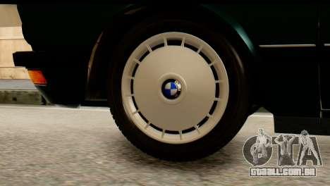 BMW M5 E28 Edit para GTA San Andreas traseira esquerda vista