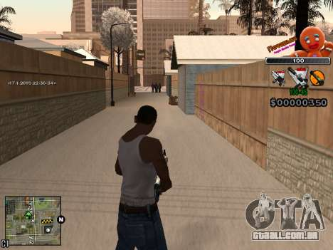 C-HUD Cookie para GTA San Andreas sexta tela