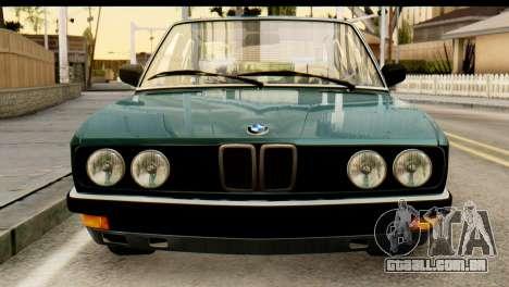 BMW M5 E28 Edit para GTA San Andreas vista traseira