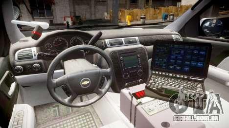 Chevrolet Tahoe 2010 Sheriff Bohan [ELS] para GTA 4 vista de volta