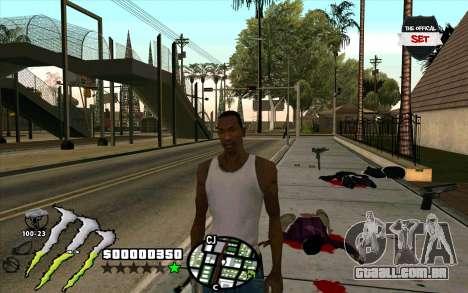 C-HUD Monster Energy para GTA San Andreas segunda tela