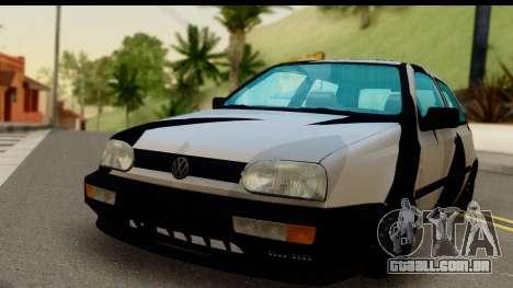 Volkswagen Golf 3 para GTA San Andreas traseira esquerda vista