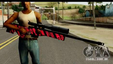 Red Tiger Sniper Rifle para GTA San Andreas terceira tela