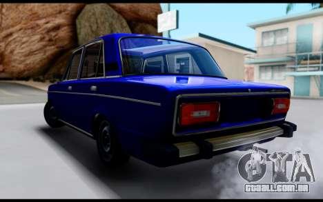 VAZ 2106 Escoamento para GTA San Andreas esquerda vista
