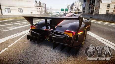 Pagani Zonda Revolution 2013 para GTA 4 traseira esquerda vista