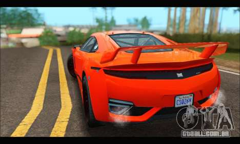 Dinka Jester Racecar (GTA V) para GTA San Andreas vista traseira