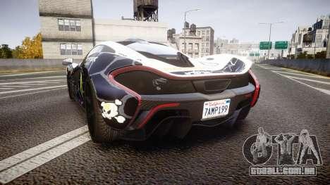 McLaren P1 2014 [EPM] Ken Block para GTA 4 traseira esquerda vista