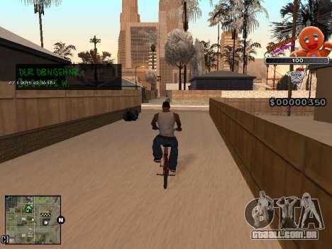 C-HUD Cookie para GTA San Andreas quinto tela