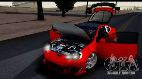 Honda Integra Type R Time Attack HQLM para GTA San Andreas vista traseira