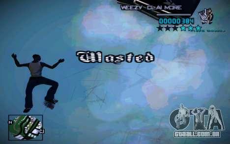 HUD by Weezy para GTA San Andreas por diante tela