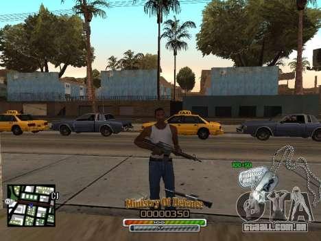 C-HUD для Exército para GTA San Andreas segunda tela
