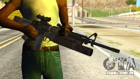 Assault Rifle from Global Ops: Commando Libya para GTA San Andreas terceira tela