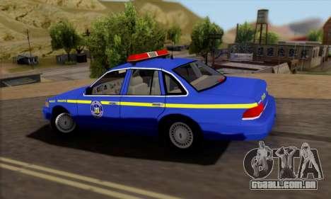 Ford Crown Victoria 1992 State Patrol para GTA San Andreas esquerda vista