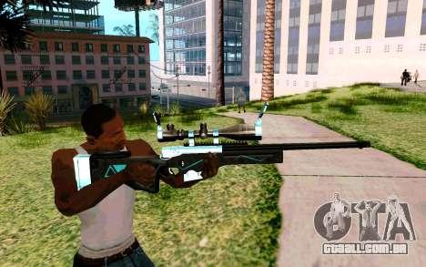 Blue Line Sniper para GTA San Andreas terceira tela