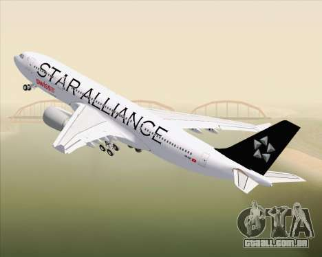 Airbus A330-200 SWISS (Star Alliance Livery) para GTA San Andreas vista superior