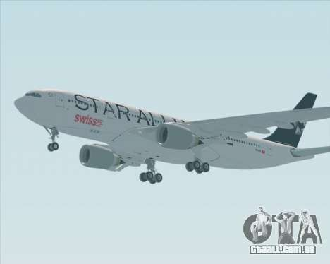 Airbus A330-200 SWISS (Star Alliance Livery) para GTA San Andreas vista direita