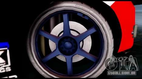 Toyota Corolla 2012 LOJACK Racing para GTA San Andreas traseira esquerda vista
