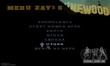 C-HUD Army para GTA San Andreas oitavo tela