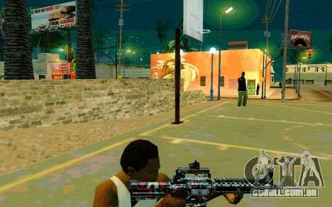 M4A1 (Looney) para GTA San Andreas terceira tela