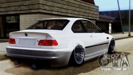 BMW M3 E46 Sport PG para GTA San Andreas esquerda vista