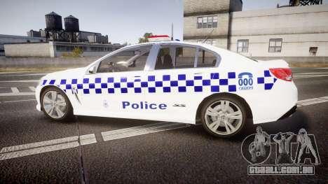Holden VF Commodore SS Victorian Police [ELS] para GTA 4 esquerda vista