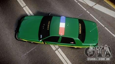 Ford Crown Victoria Sheriff [ELS] green para GTA 4 vista direita