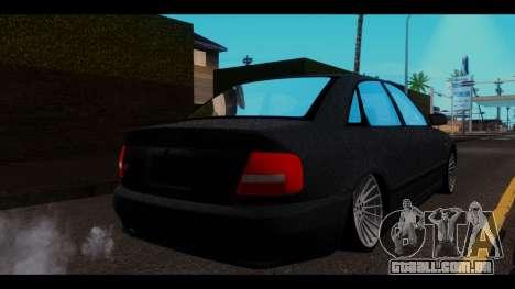 Audi A4 para GTA San Andreas traseira esquerda vista