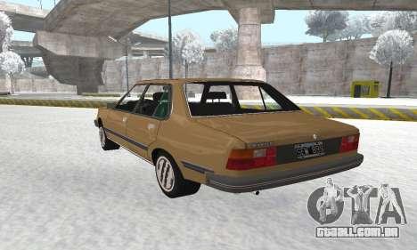 Renault 18 para GTA San Andreas vista interior