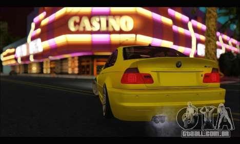 BMW M3 Coupe Tuned para GTA San Andreas vista direita