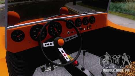 Volkswagen Dune Buggy 1975 para vista lateral GTA San Andreas