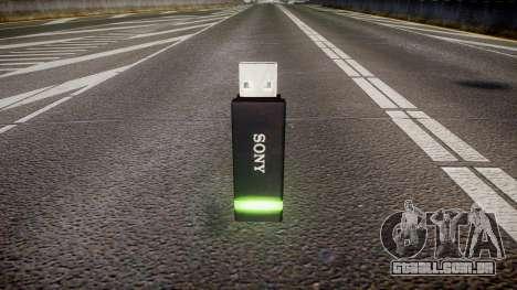 A unidade flash USB da Sony verde para GTA 4