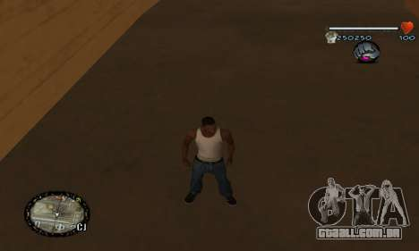C-HUD UNIVERSAL para GTA San Andreas por diante tela