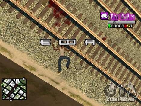 C-HUD Ballas by Inovator para GTA San Andreas por diante tela